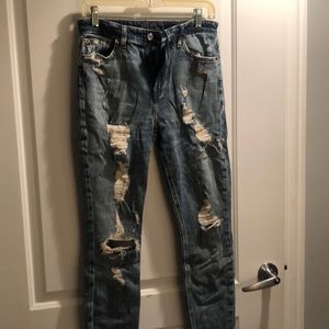 Lucky distressed straight jeans